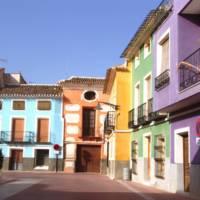 Casas pintorescas de plaza