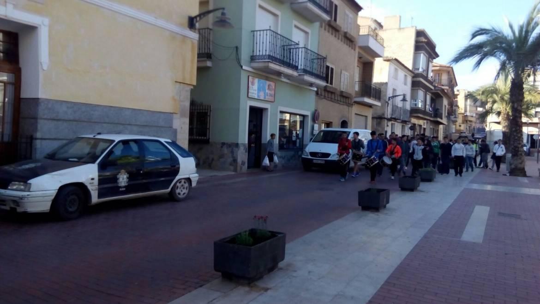 Tamborada Juvenil por la calles de Pliego (06/04/2017)