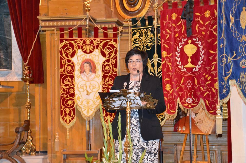 Isabel Toledo pregona la Semana Santa de Pliego (01/04/2017)