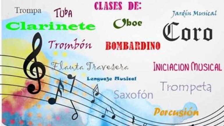 Abierto el plazo de matrícula para inscribirte en la Escuela de Música de la Agrupación Musical Virgen de los Remedios de Pliego del 19 al 23 de junio.