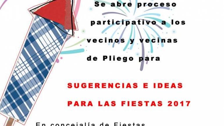 Abierto proceso participativo Fiestas Patronales 2017.