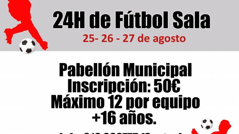 """Abiertas inscripciones para el """"Campeonato 24 horas de Fútbol Sala"""" con motivo de las Fiestas Patronales 2017"""