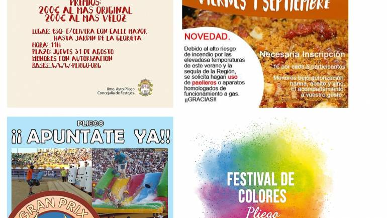 Bases, inscripciones y autorizaciones para participar en las actividades programadas para las «Fiestas Patronales 2017»