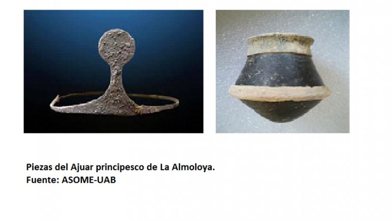 Pliego exhibe su Tesoro Argárico de La Almoloya en Madrid.