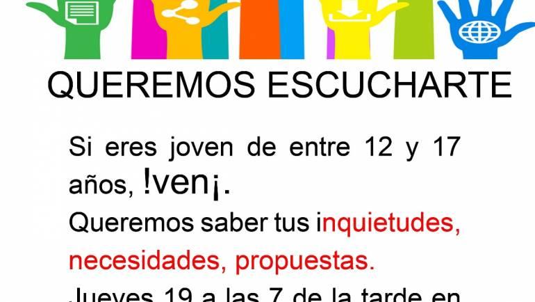 Convocatoria para todas personas de entre 12 a 17 años, esta tarde  a las 19:00 horas en la Biblioteca Municipal.