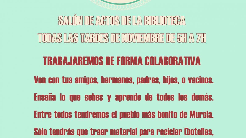 TALLER COLABORATIVO ADORNOS NAVIDAD RECICLADOS