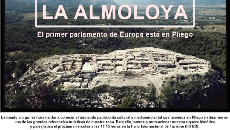 Satisfacción por la gran acogida en FITUR de la oferta turística de Pliego con 'La Almoloya: El primer Parlamento de Europa'