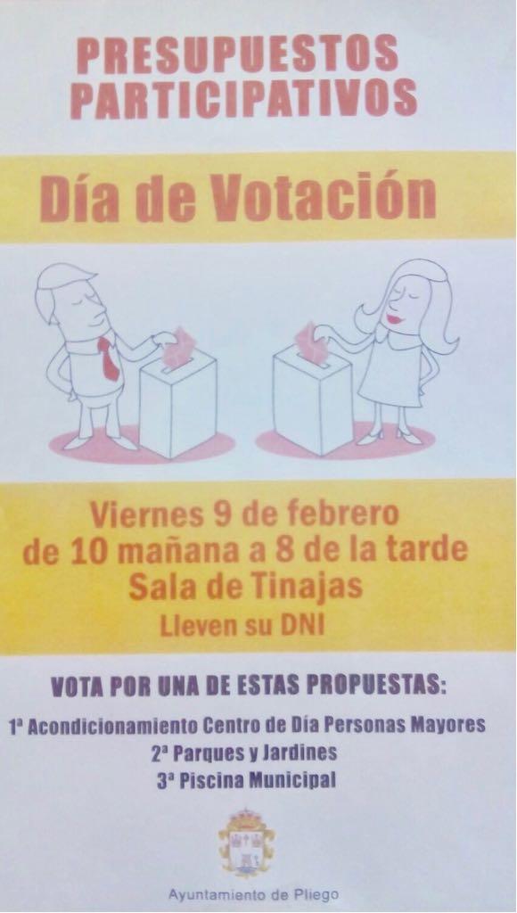 Este viernes de 10 a 20 horas los plegueros deciden con su voto el proyecto al que destinar 15.000€