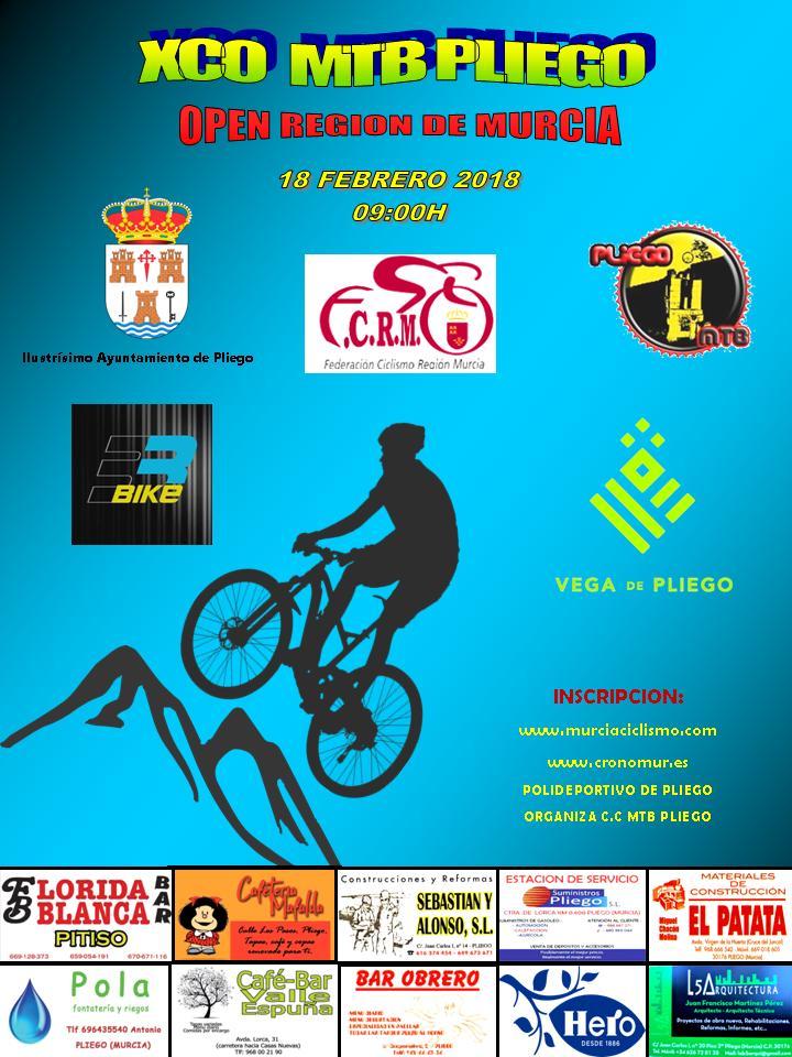 Este domingo se celebra la espectacular prueba ciclista de montaña 'XCO Ciudad de Pliego'