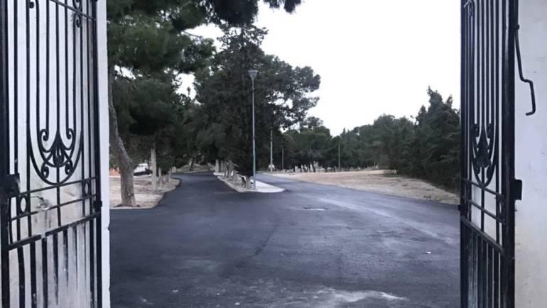 Finalizan las obras de adecuación del Camino del cementerio