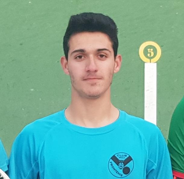 Un  pleguero compite por primera vez en el Campeonato de España de frontenis
