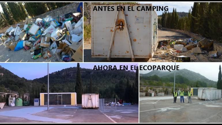 El ecoparque se ha remodelado para mejorar el servicio y albergar contenedores que ensuciaban el camping