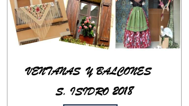I Concurso de Engalanamiento de balcones y ventanas para embellecer las Fiestas de San Isidro 2018
