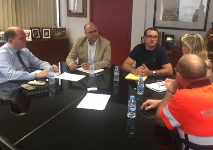 Reunión con el Director General de Emergencias para tratar las necesidades más importantes de Pliego