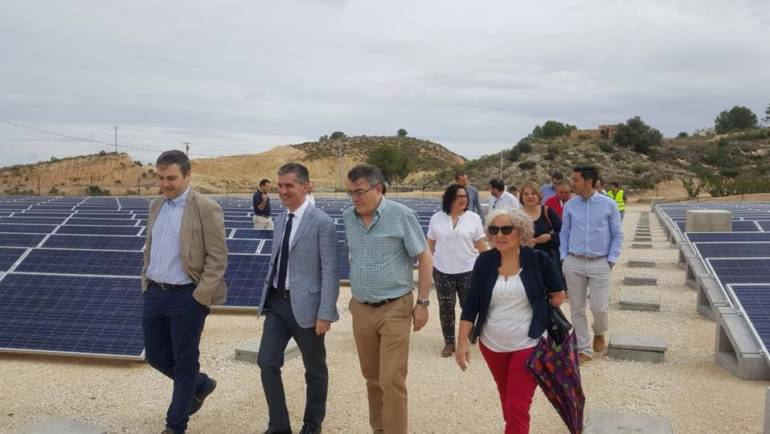 Visita para comprobar el ritmo de las obras de modernización de las zonas de regadío de Huerta Alta y Huerta Baja
