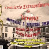 Esta tarde la Agrupación Musical Ntra. Sª de los Remedios de Pliego celebran su concierto de Verano