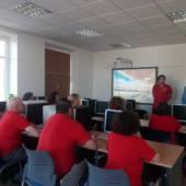 Encuentro del alcalde de Pliego con los doce trabajadores del Programa Mixto de empleo y formación