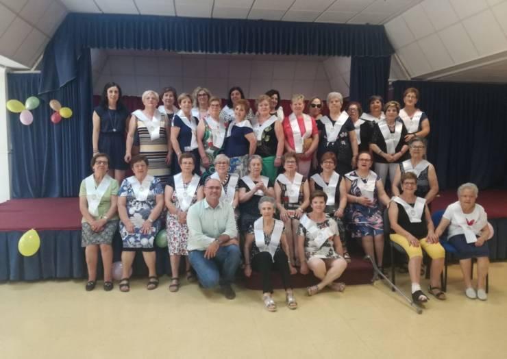 Graduación de fin de curso de las mujeres que realizan gerontoterapia