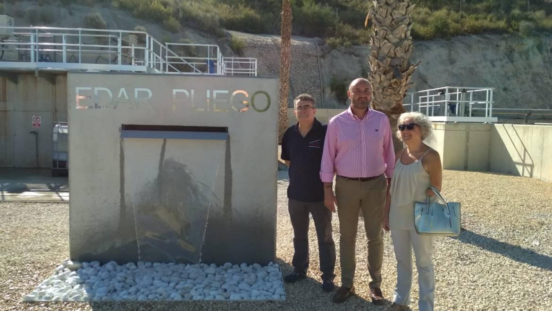 Las inversiones en la depuradora de Pliego ya permiten dotar el tratamiento terciario para mejorar el agua para riego