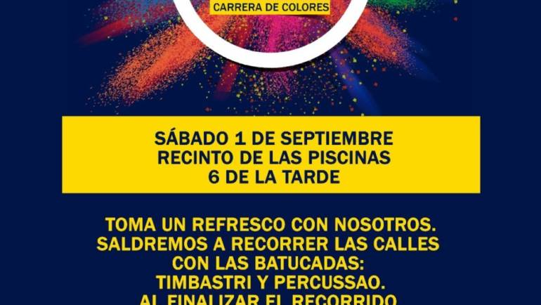 El próximo sábado 1 de septiembre disfruta en Pliego de la carrera de colores Happy Holi para hacer disfrutar a los más jóvenes.