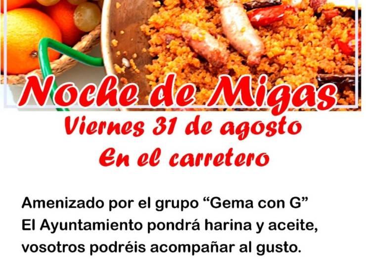 Este viernes se celebra la Noche de Migas