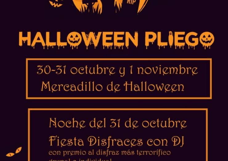 Pliego celebrará Halloween con una fiesta de disfraces y un mercadilo
