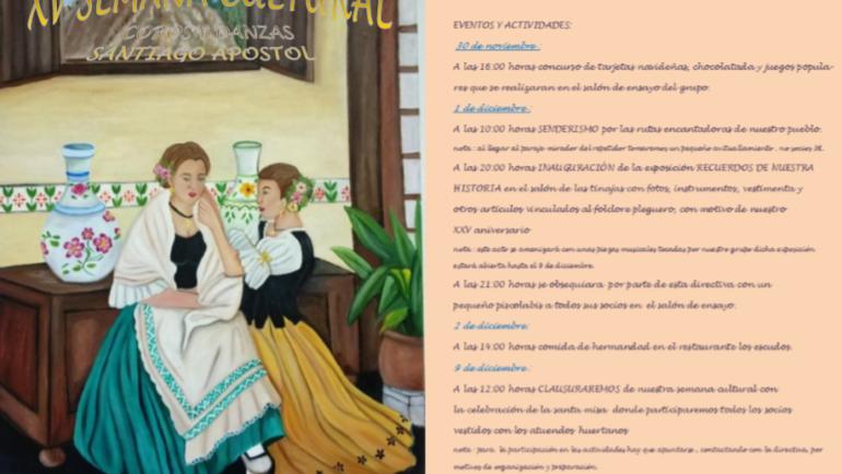 Llega la XV Semana Cultural de los Coros y Danzas Santiago Apóstol de Pliego