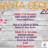 Este fin de semana dan comienzo las actividades de celebración de Santa Cecilia, patrona de los músicos.