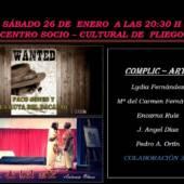 """El grupo de teatro local COMPLIC-ARTE estrena este fin de semana la obra teatral """"Paco Jones y la ruta del bacalao"""" de J. Cerdena"""