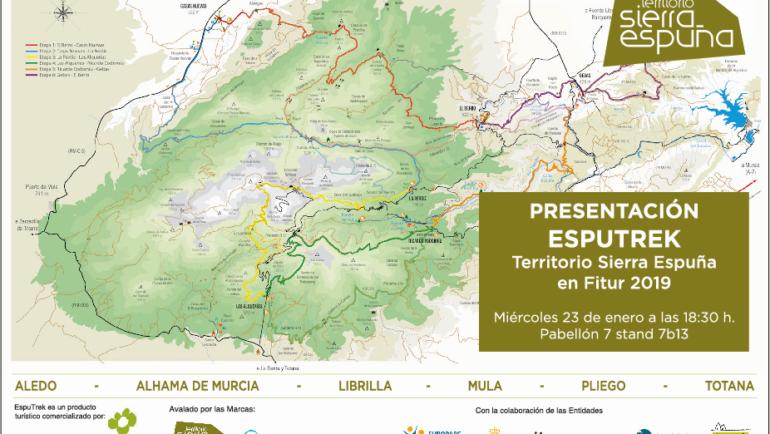 Pliego estará presente en FITUR promocionando la Ruta EspuTrek del Territorio Sierra Espuña