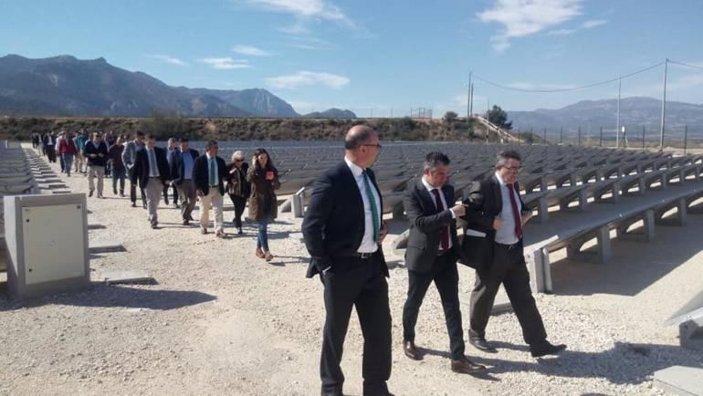 Inaugurada una parte del parque solar fotovoltáico de la Comunidad de Regantes de Pliego