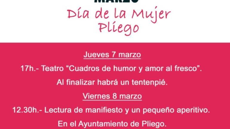 Pliego celebra el Día de la Mujer con varios actos