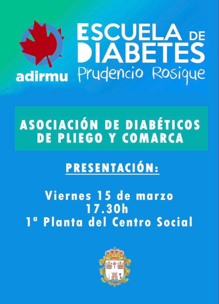 Este viernes se presenta la nueva Asociación de Diabéticos de Pliego y comarca