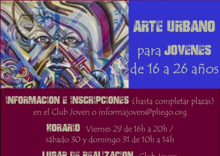 El arte urbano será protagonista este fin de semana en Pliego