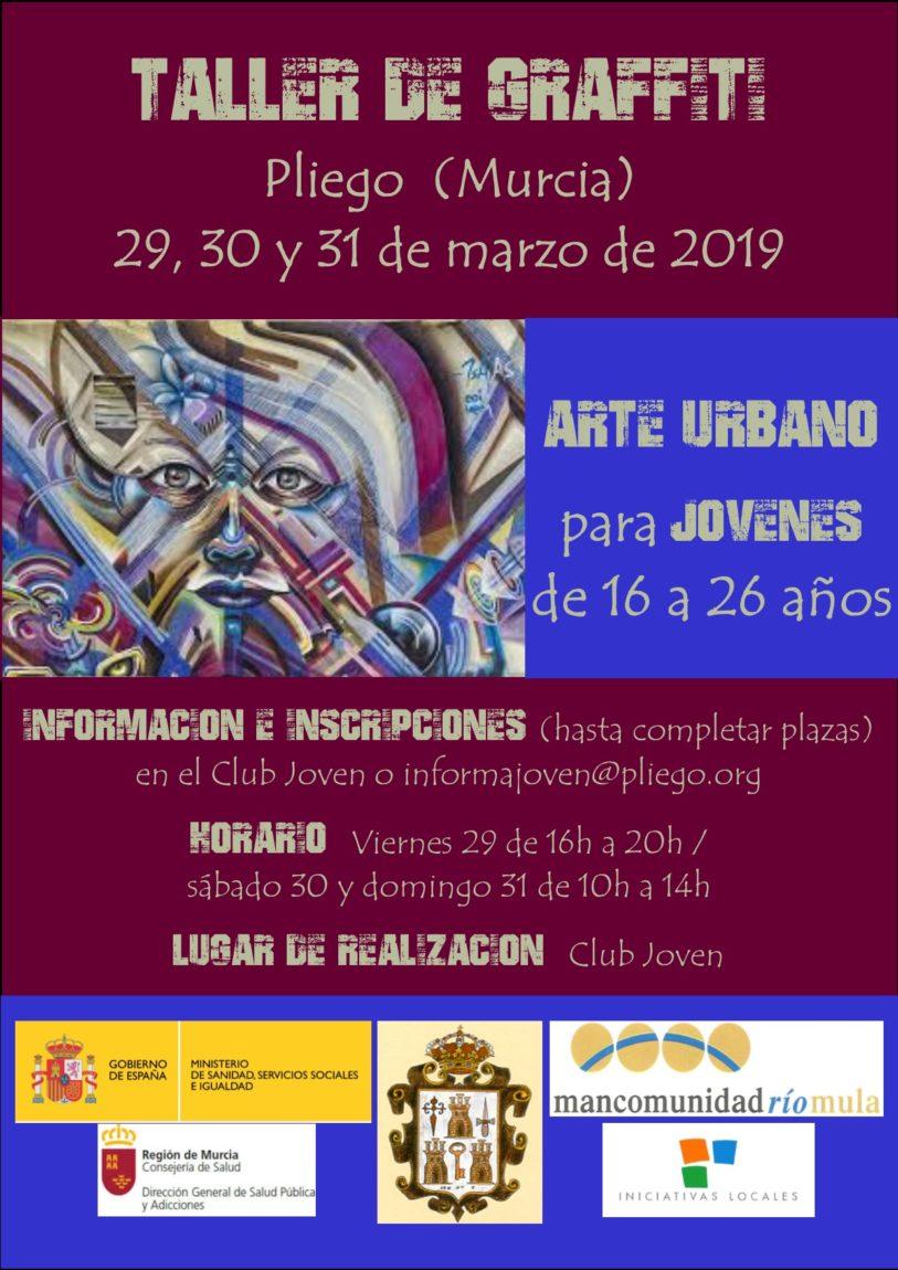 Se va a realizar un taller de graffiti y arte urbano para la juventud de Pliego