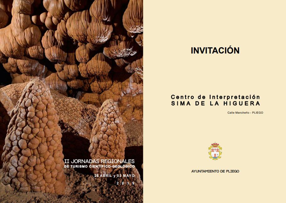 Este viernes arrancan las Jornadas de turismo científico con la conferencia 'Sima de la Higuera, monumento natural'
