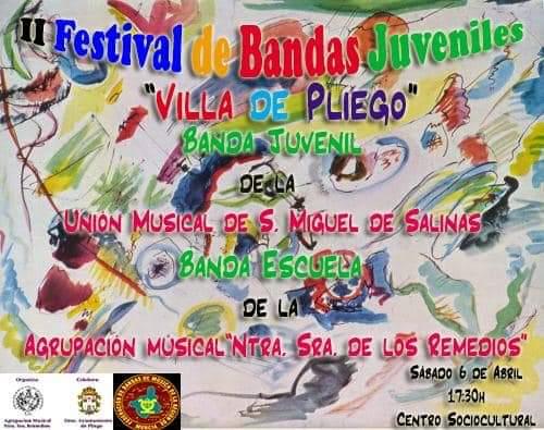 Este sábado se realiza el II Festival de Bandas Juveniles 'Villa de Pliego'