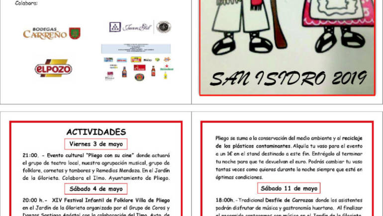 Pliego se engalana para celebrar este fin de semana las Fiestas de San Isidro