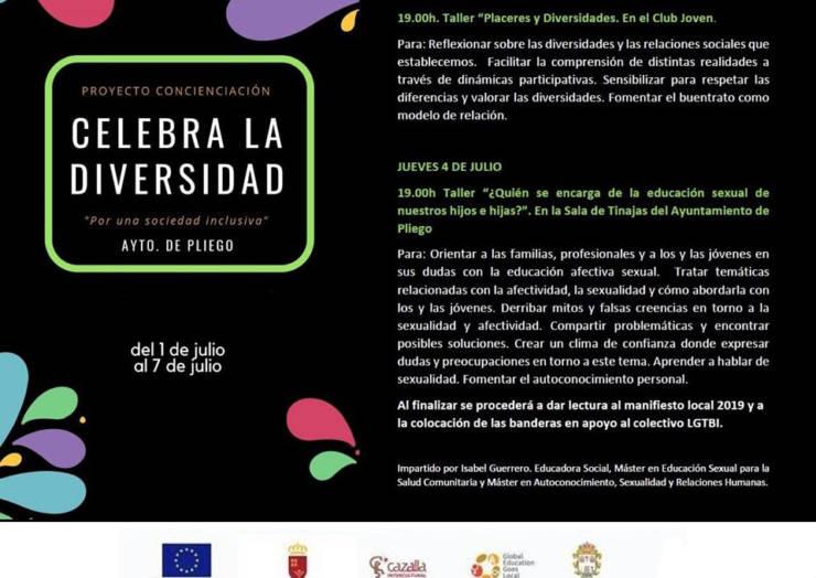 Talleres para celebrar la diversidad en Pliego