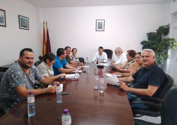 """El alcalde de Pliego asiste al pleno de la Mancomunidad de Servicios Sociales """"Río Mula""""."""