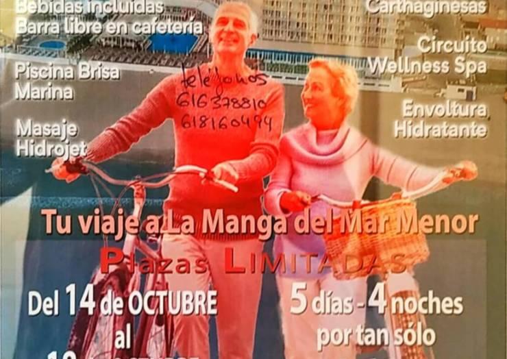 Viaje en octubre organizado por el Centro de la Tercera Edad