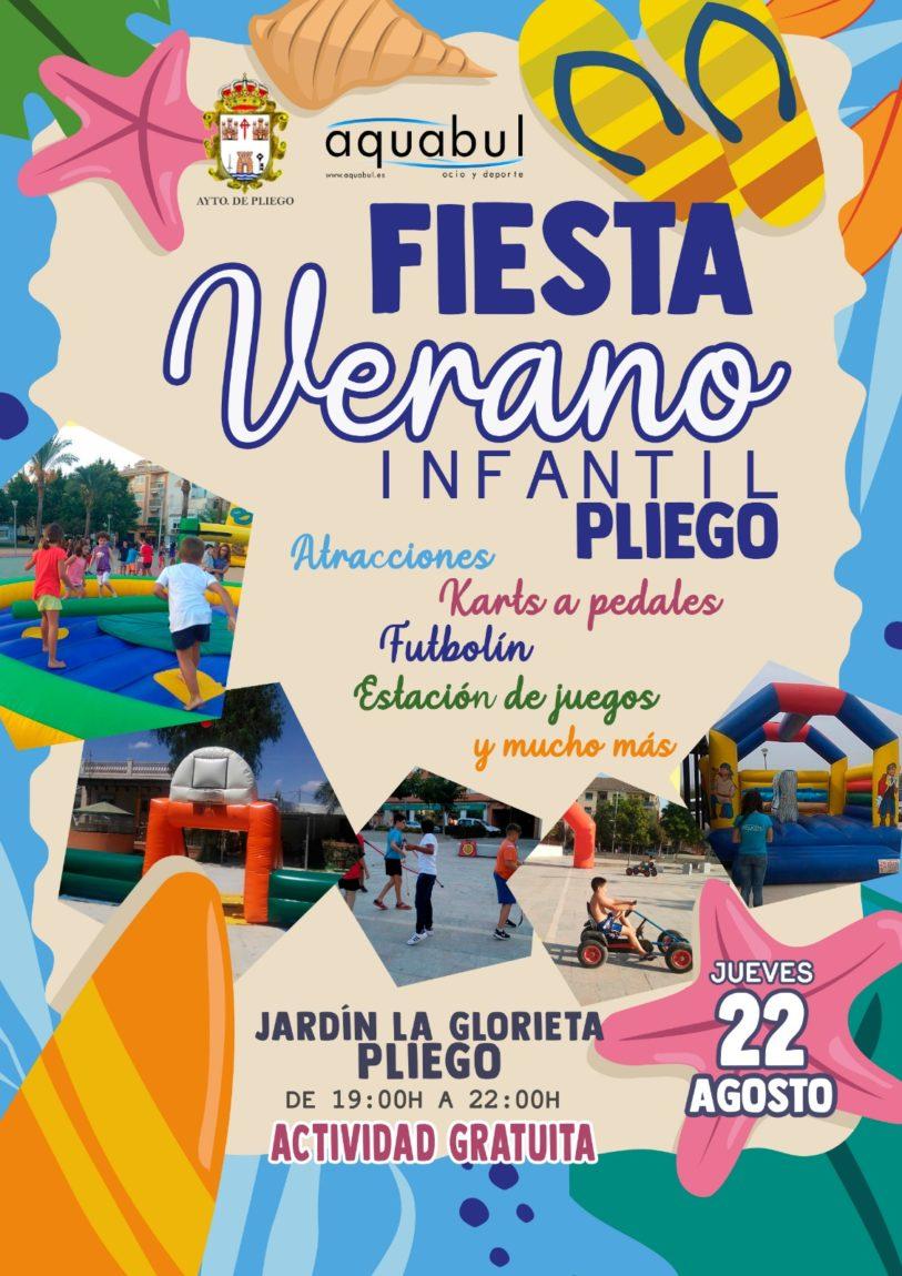 Este jueves se realiza la Fiesta del Verano Infantil de Pliego