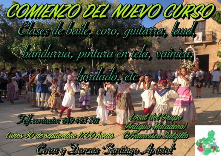 Comienza el nuevo curso de actividades tradicionales en los Coros y Danzas 'Santiago Apóstol'