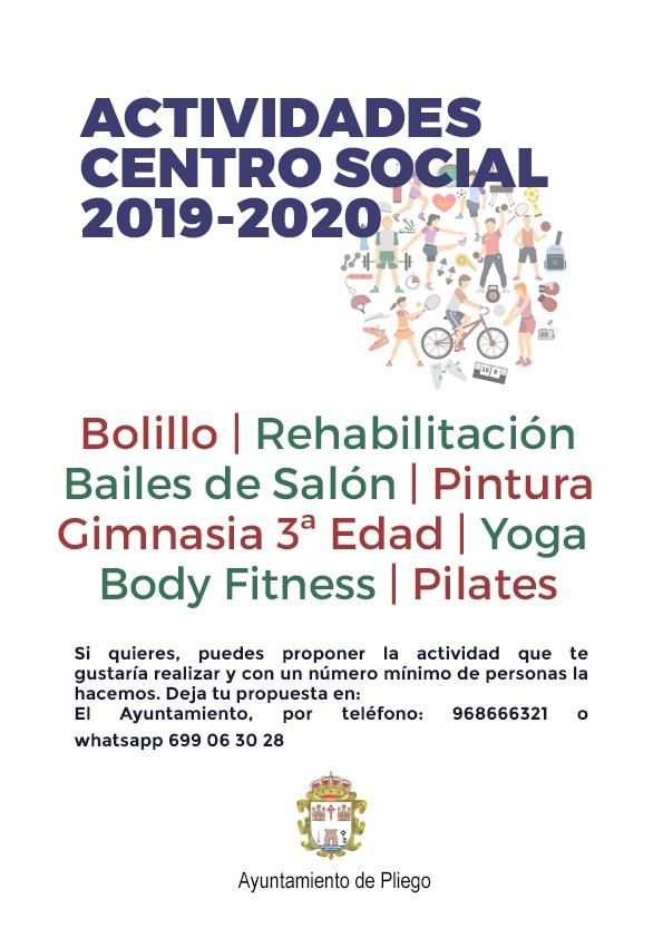 El Ayuntamiento propone numerosas actividades lúdicas y deportivas en el Centro Social