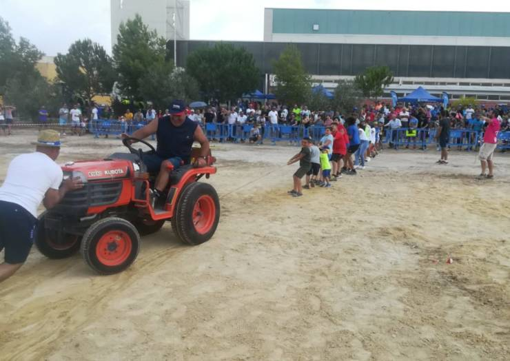 Buen ambiente en el concurso de tractores y la tira garrote con la participación este año de mujeres