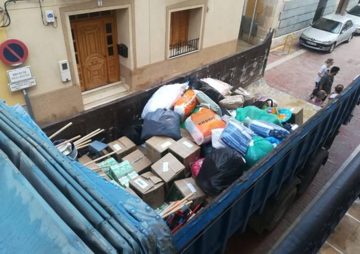 Importante movilización en solidaridad con las riadas de Los Alcázares, San Javier y Lorquí