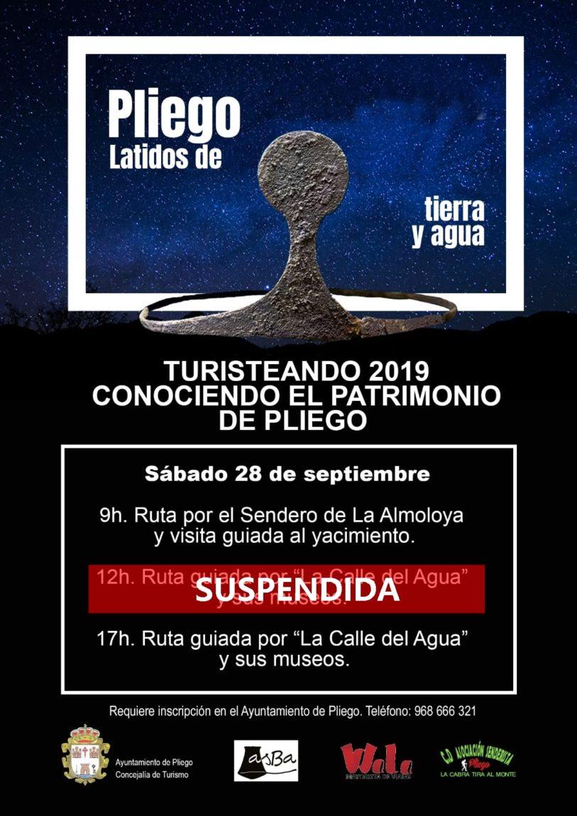 La actividad programada para mañana a las 12:00h queda suspendida, la de las 9:00h y 17:00h siguen adelante
