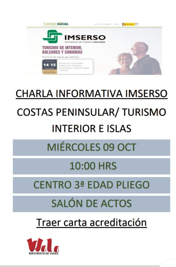 Este miércoles 9 se va a realizar una charla informativa sobre el Programa de Turismo IMSERSO