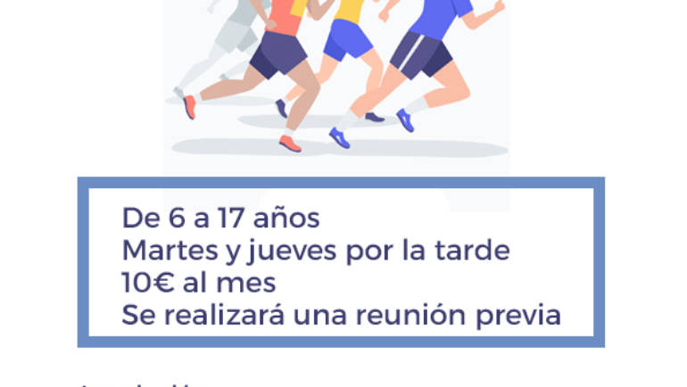 Abierto el plazo de inscripción para la Escuela de Atletismo de Pliego 2019