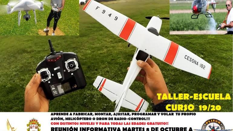 Reunión para interesados en aprender a montar y volar aviones, helicópteros o drones de radio-control